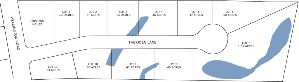 Plot Plan for Therrien Drive in Manchester, NH